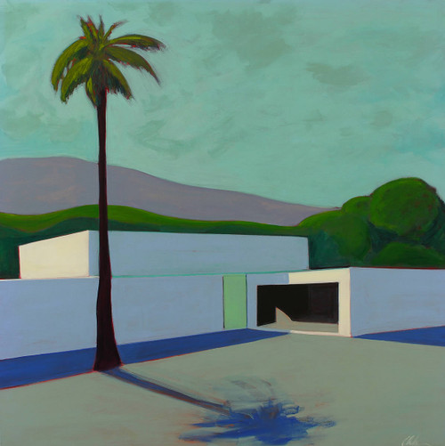 Post Modern House with Palm Tree