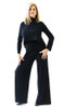 Nice wide bamboo leg pant that is so comfortable. Worn with the long sleeve and short vest upside down and backward.Classic look for the stage.