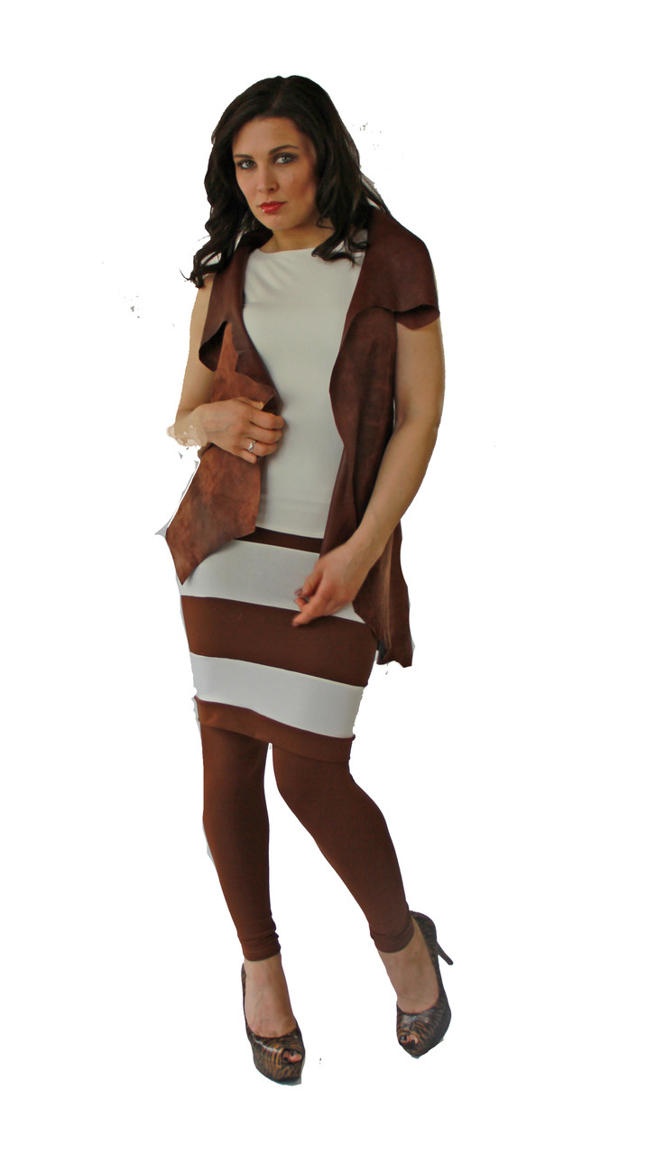 a31849f4e8cbd r CHESTNUT BLOCK SKIRT - bellaBALAS