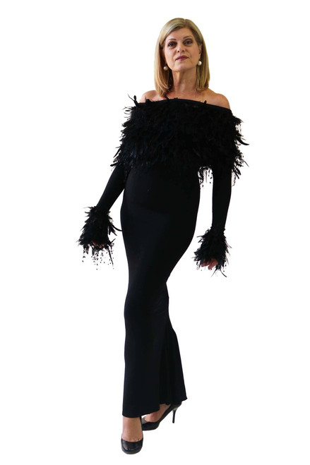 GALA FEATHER SHRUG and CUFFS