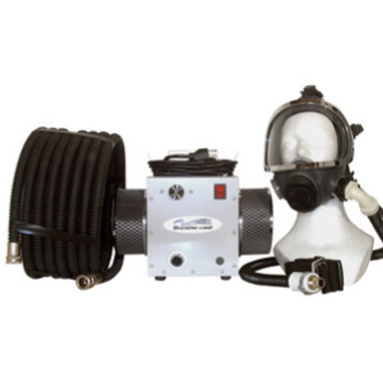 Single Man Supplied Air Respirator System w/Fullface Mask