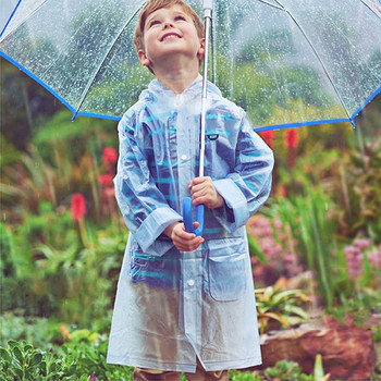 School clear kids raincoat