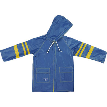 School reversible kids raincoat blue