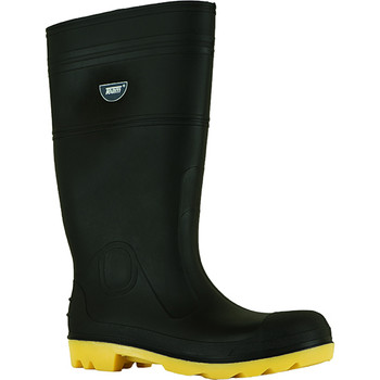 Steel toe gumboot black/yellow front