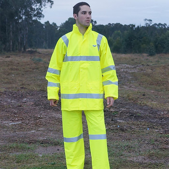 Monsoon hi-vis waterproof pants outdoors