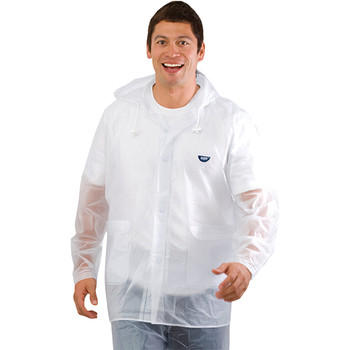 Reusable clear rain jacket