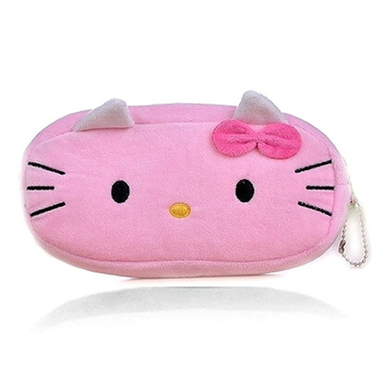 Cute Cartoon Plush Pencil Case
