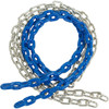 Blue plastic coated swing chain Pair