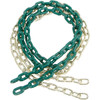 Green plastic coated swing chain Pair