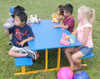 Preschool Picnic Table is portable and can be moved inside to protect from the elements.