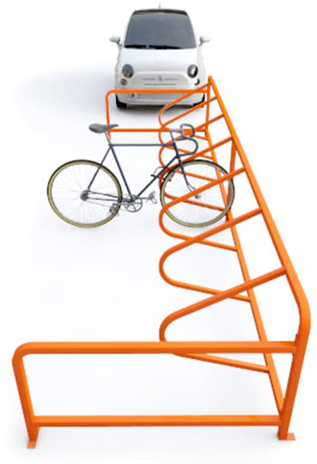 The Dero Cycle Stall is the first on-street bike parking kit that includes everything needed for the conversion from car to bike parking.