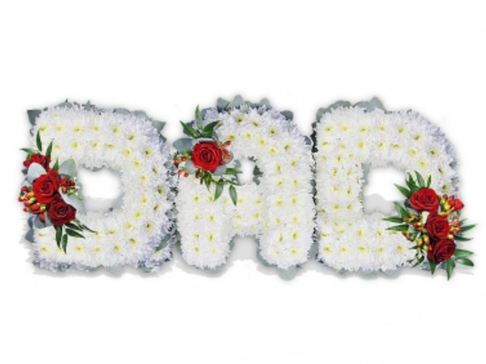 dad floral letters dad funeral flowers