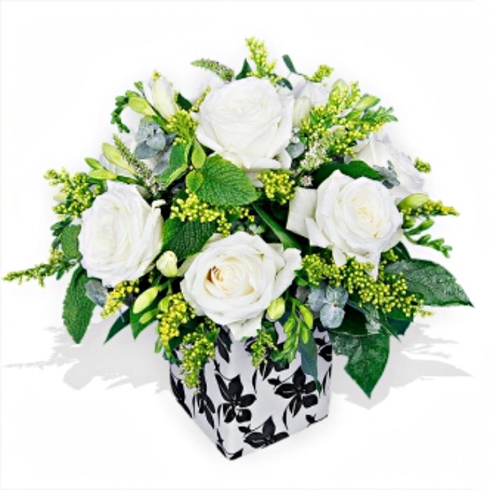 White roses and freesias flower delivery london white roses and freesias mightylinksfo