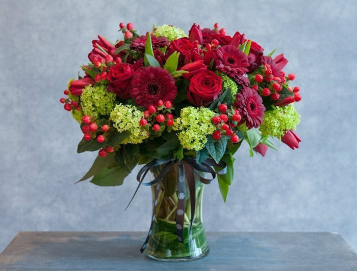 Roses Tulips and Gerbera