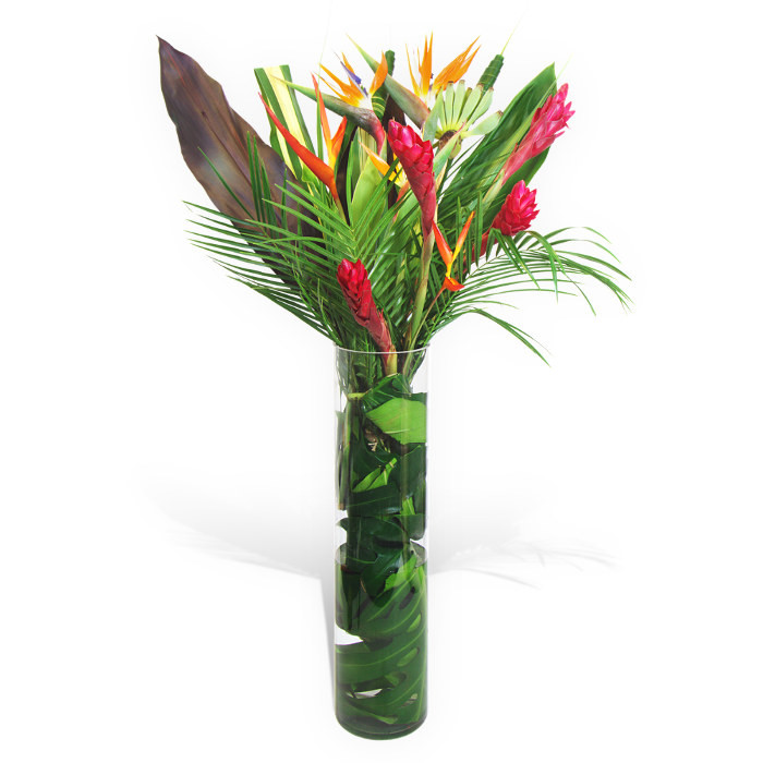 Tropical Flowers In A Vase Flower Delivery Flower Station