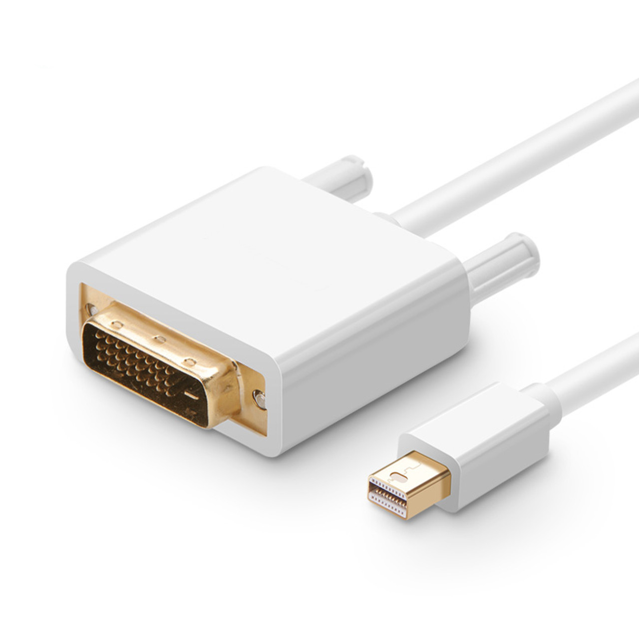 2M Mini Displayport to DVI-D Cable White