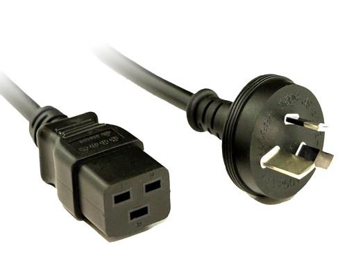 2M IEC-C19 Power Cord 15Amp