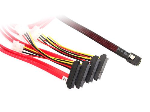 50CM M-SAS To 4XSAS29/Molex Cable