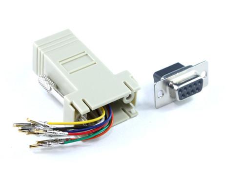 DB9F To RJ45 F Adaptor