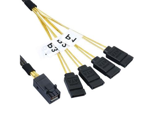 50CM Mini SAS HD to 4 x SATA Cable