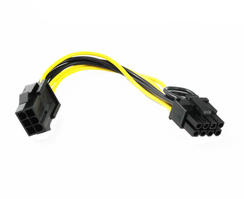 20CM PCIe 6Pin Female to 8Pin ( 6+2 ) Male Cable