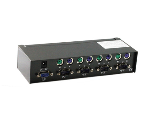 4 Port PS/2 KVM Switch