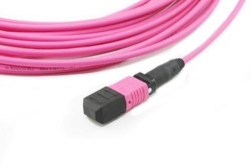 5M MPO to 4x LC OM4 Fibre Cable