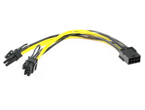 20CM PCIe 8Pin Female to 2 x 8Pin ( 6+2 ) Male Cable