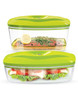Dafi Set of 5 Vacuum Containers with Electric Pump (Lime)