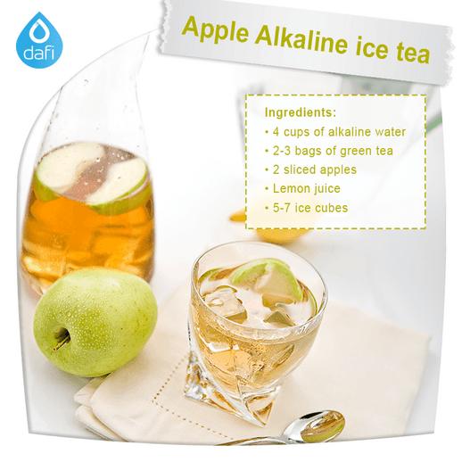 Apple Alkaline ice tea