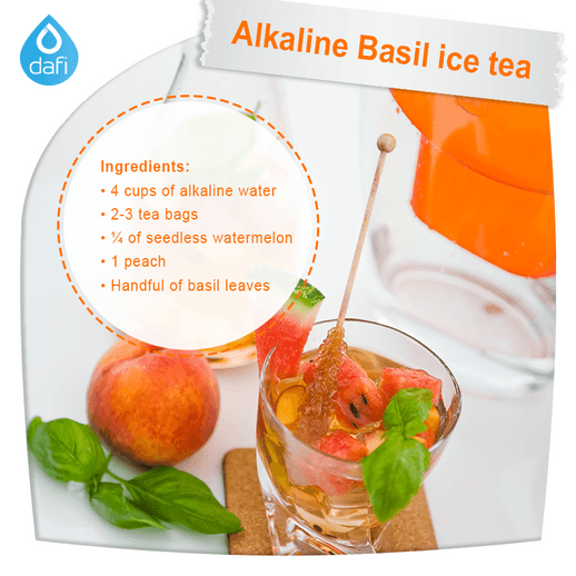 Alkaline Basil ice tea