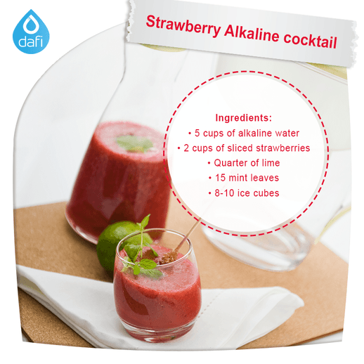Strawberry Alkaline Cocktail