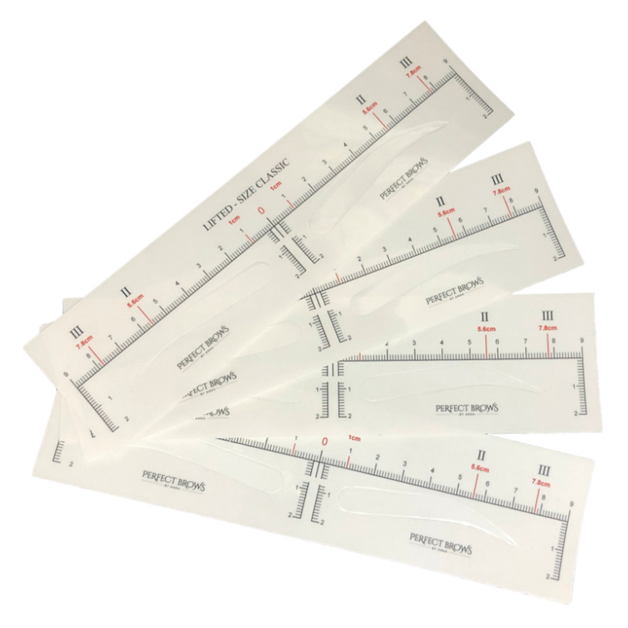 Permanent Makeup (PMU) Sticker Measuring Tool  4 Types