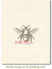 Bumblebee Cling Stamp by Deep Red Stamps shown on A2 card