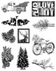 Season of Joy 10 cling stamp collection