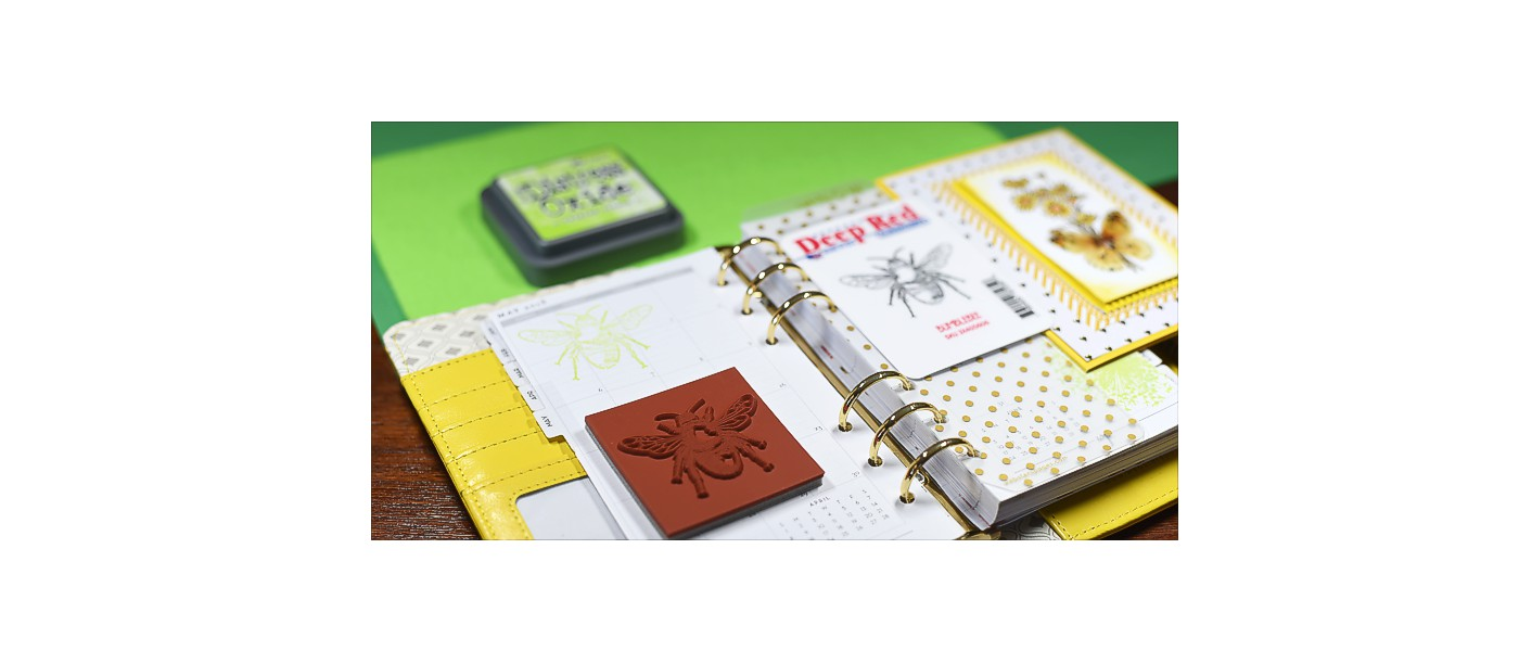 Planner with Bumblebee stamp