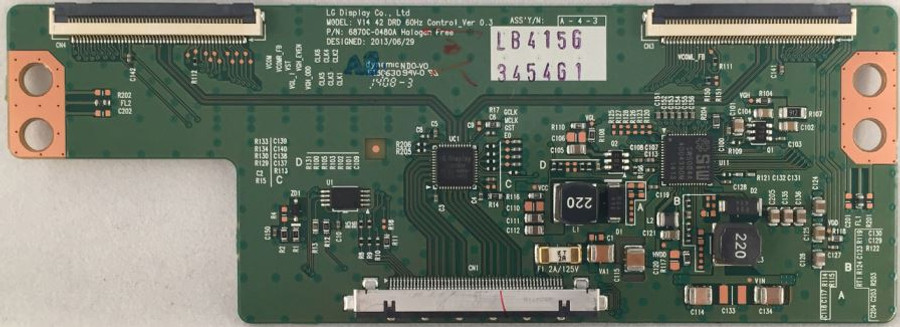 LG T-Con Board 6871L-3454G for  42LB5800-UG BUSWLJM, 42LY560M-UA BUSWLJR - Front