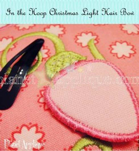 e7c68285ba0313 In the Hoop Christmas Light Hair Bows