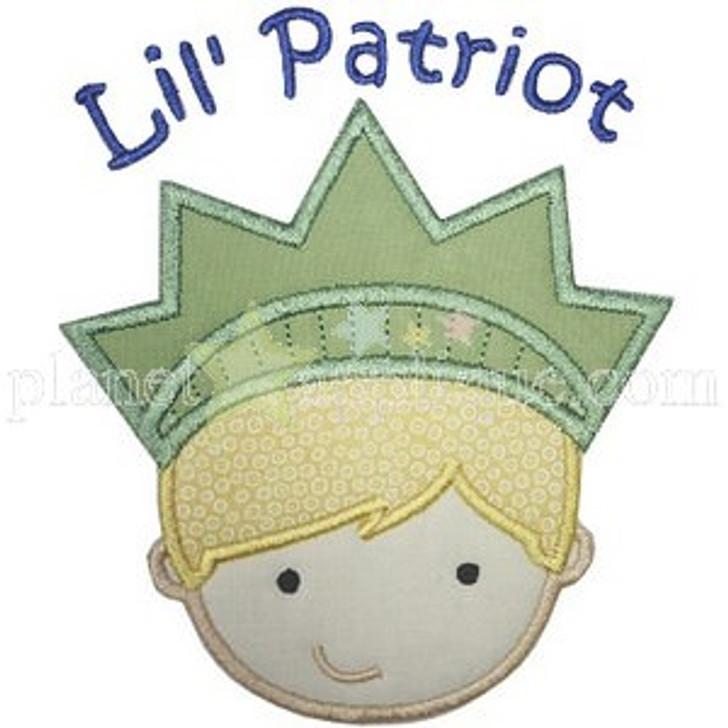 Lil Patriot Boy Applique
