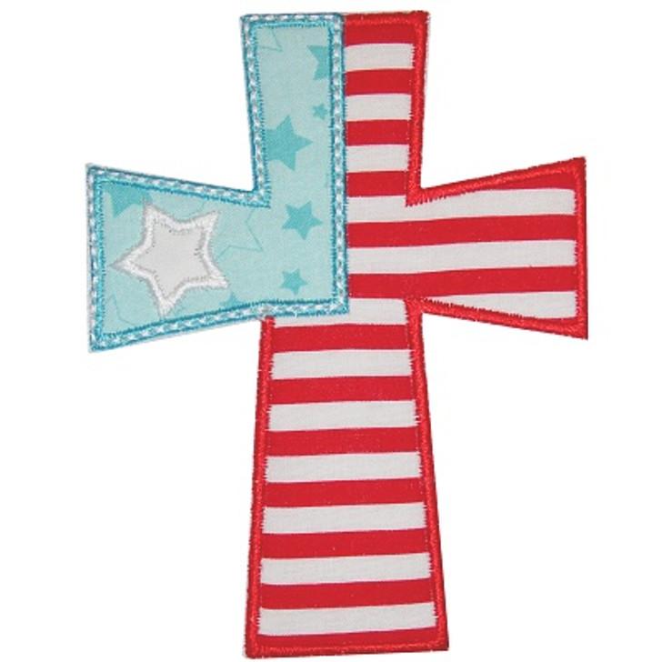 Flag Cross Applique