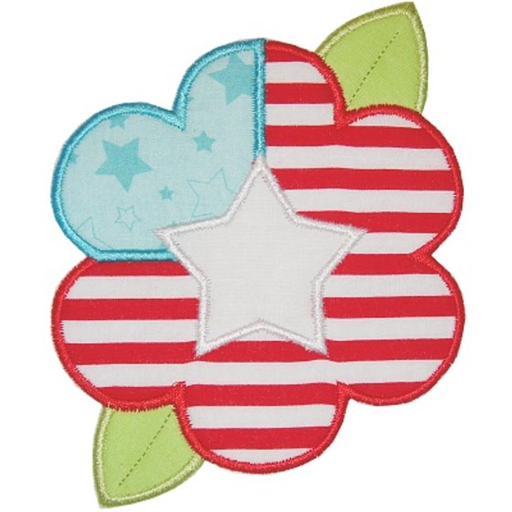 Flag Flower Applique