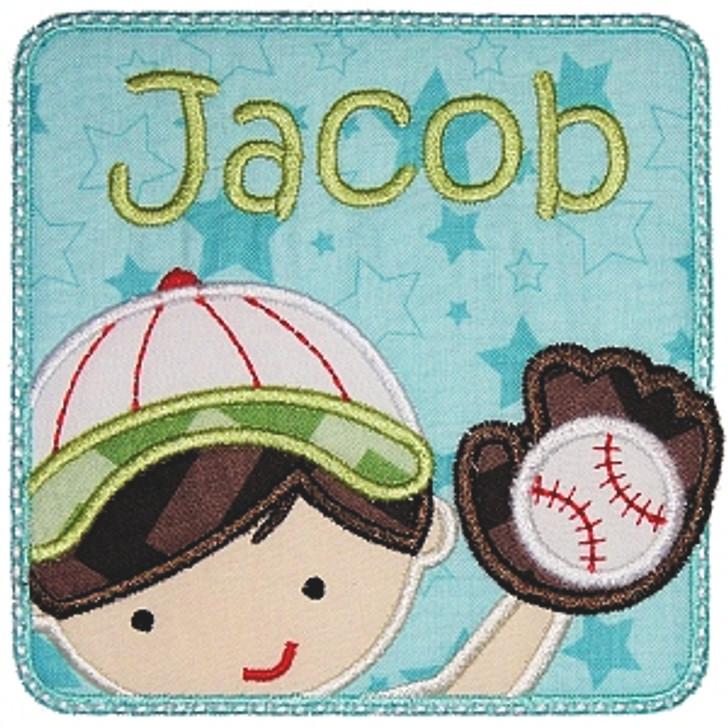 Baseball Boy Patch