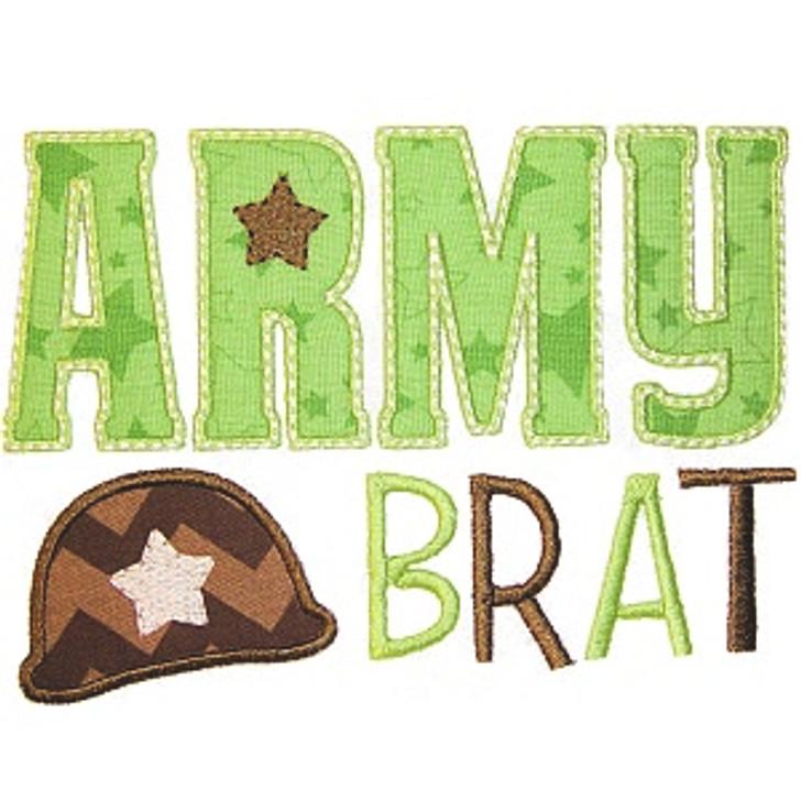 Army Brat Applique