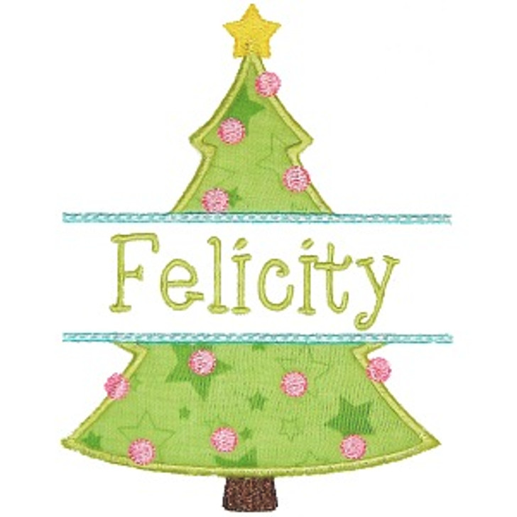 Christmas Tree Name Patch