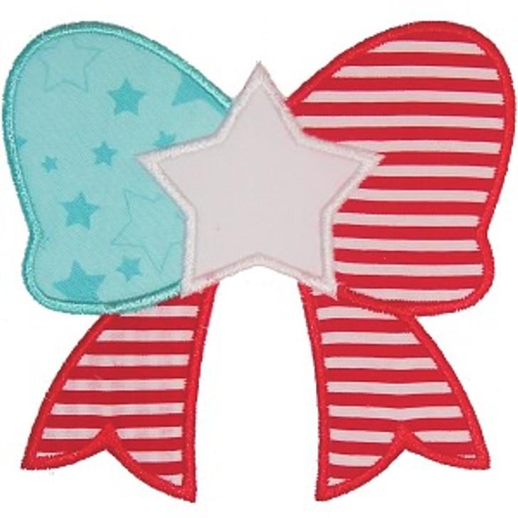 Patriotic Bow Applique