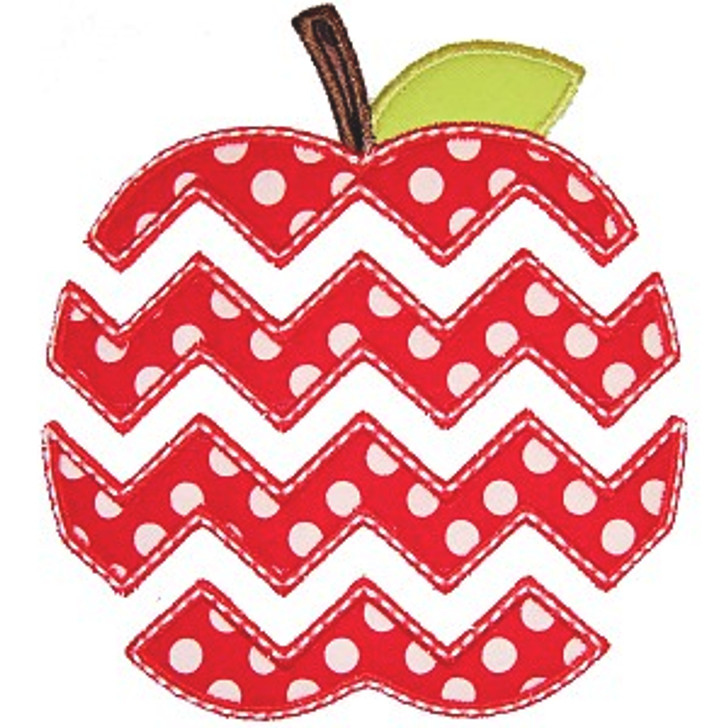Chevron Apple Applique