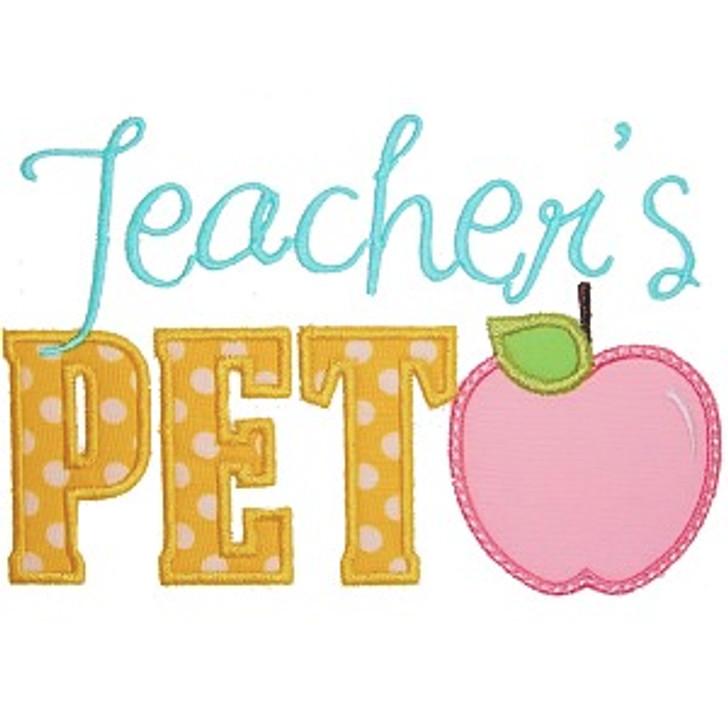 Teachers Pet Applique