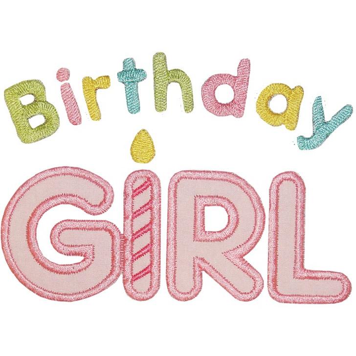 Birthday Girl Applique