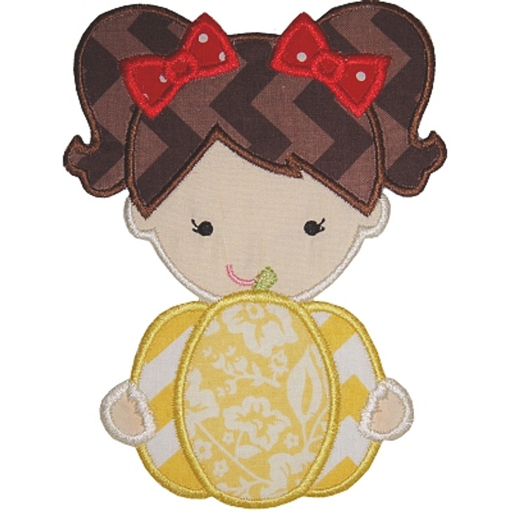 Pumpkin Girl Applique