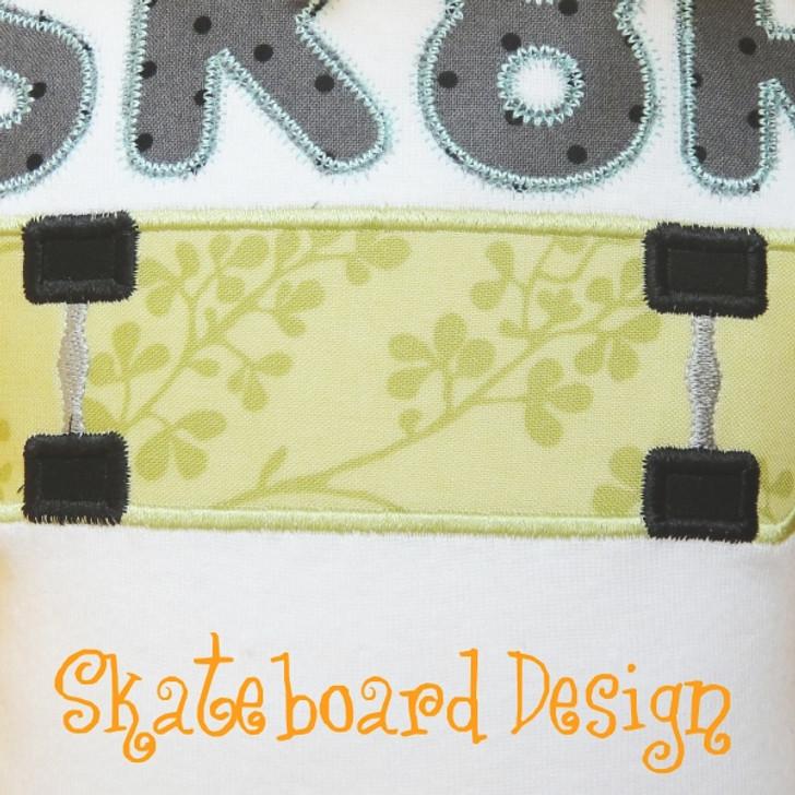Skateboard 2 Applique